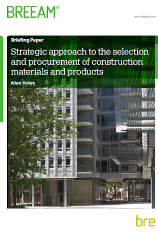 STRATEGIC APPROACH TO THE SELECTION AND PROCUREMENT OF CONSTRUCTION MATERIALS AND PRODUCTS Cover