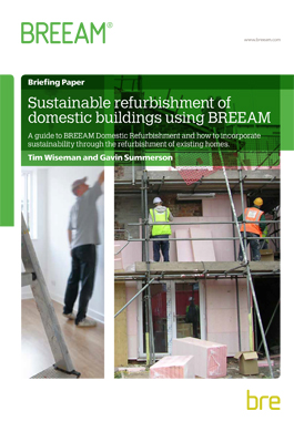 Sustainable refurbishment of domestic buildings