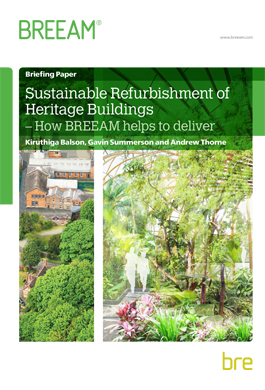 Sustainable refurbishment of heritgage buildings