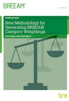 New methodology for generating BREEAM category weightings